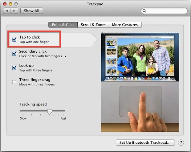 Enable Tap To Click on a Mac Trackpad