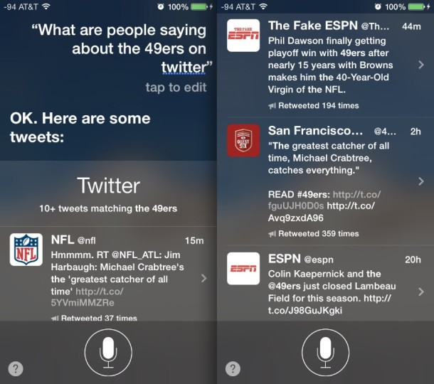 Get topic details and information from Twitter with Siri