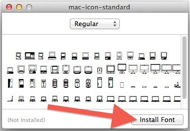Install the Macintosh icon font