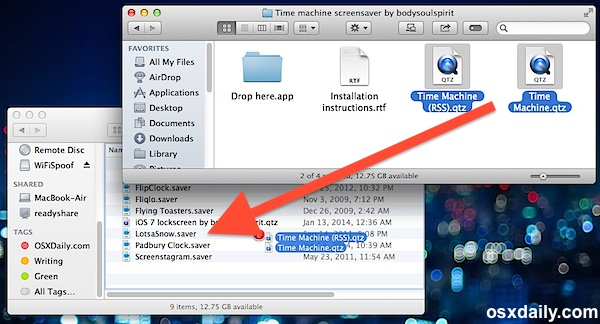 Installing screen savers manually in OS X user library folder