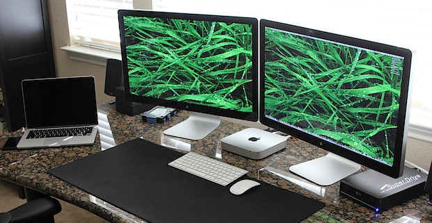 Mac Mini with Dual Thunderbolt Displays