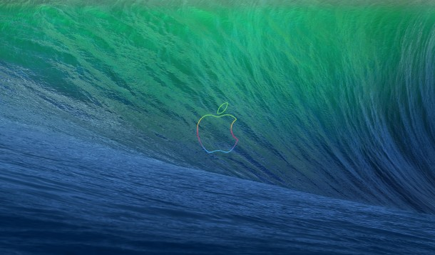mavericks-wave-apple-anniversary-logo-wallpaper