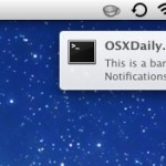Notifications banner in OS X