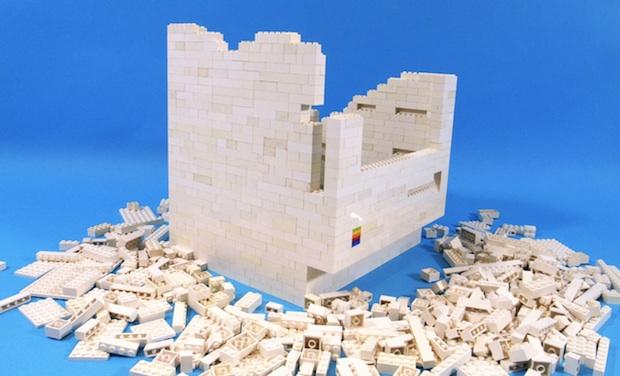 Macintosh LEGO iPad holder and stand in progress