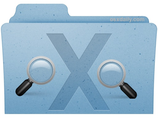 Search system files in Mac OS X