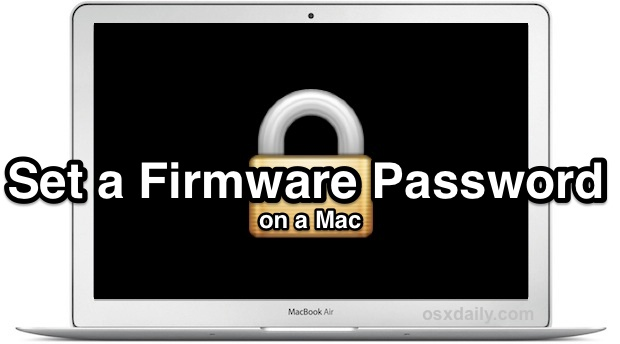 Set a firmware password on a Mac