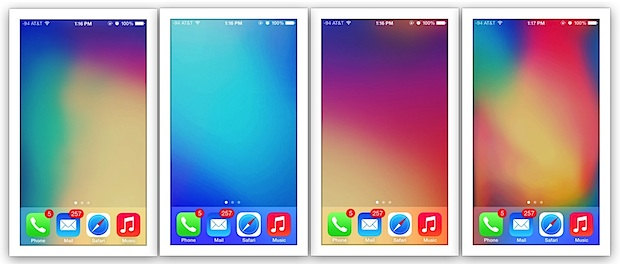 Abstract parallax wallpapers for the iPhone 5 and 5S