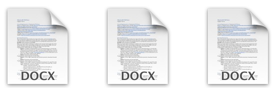 Batch convert docx to txt or rtf