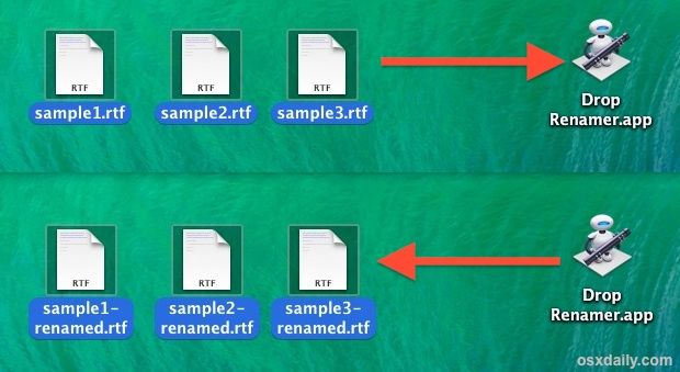 Batch rename files with a drag and drop utility in Mac OS X