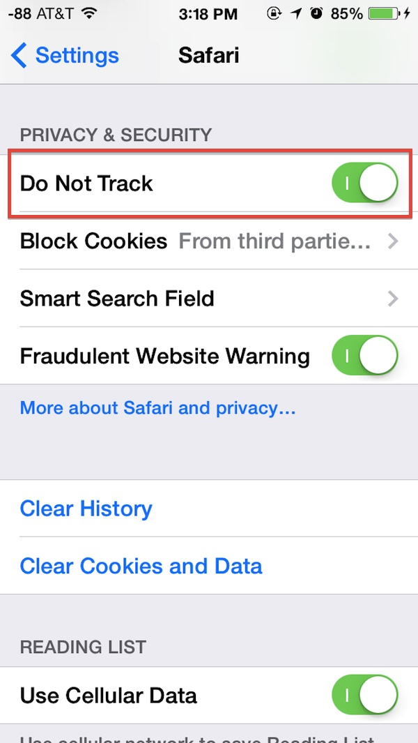 what is do not track on iphone ios 7 tips and tricks page 13 20551