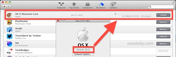 Downloading older version of OS X from the Mac App Store