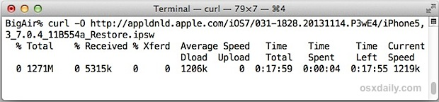 Downloading a file with curl