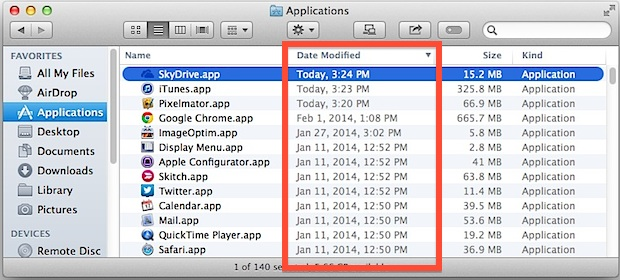 Find new and updated apps in Finder