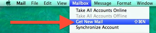 Get new Mail in OS X Mail app