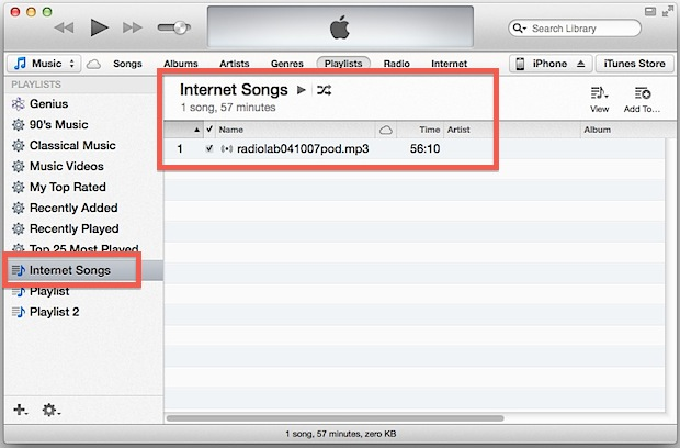 m3u playing in iTunes