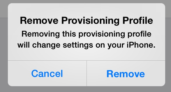 How to remove provisioning profiles in iOS
