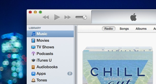 Customize the Sidebar in iTunes