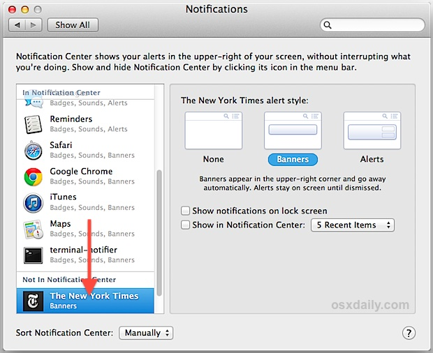 Stop website Notifications in OS X
