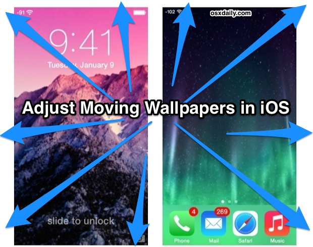 Adjust moving wallpapers in iOS