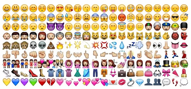 Many different Emoji icons