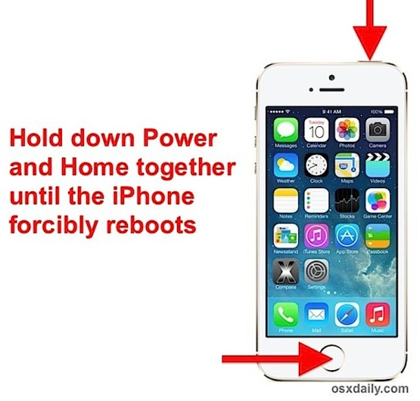 Force restart an iPhone / iPad