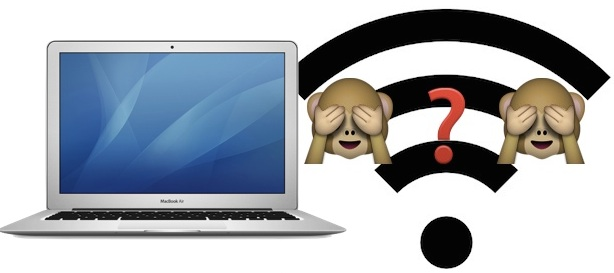 Forget a Wi-Fi Network in Mac OS X