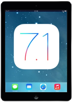 iPad Air with iOS 7.1