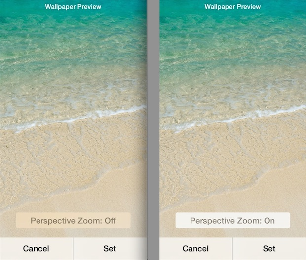 Perspective Zoom changes wallpaper moving in iOS