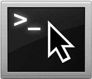Place a cursor anywhere in the Terminal by using Option+Click