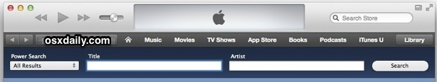 Power Search in iTunes