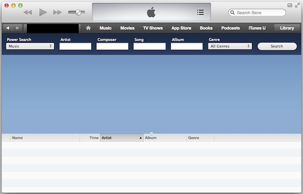 Power Search Music in iTunes