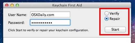Repair a Keychain in Mac OS X