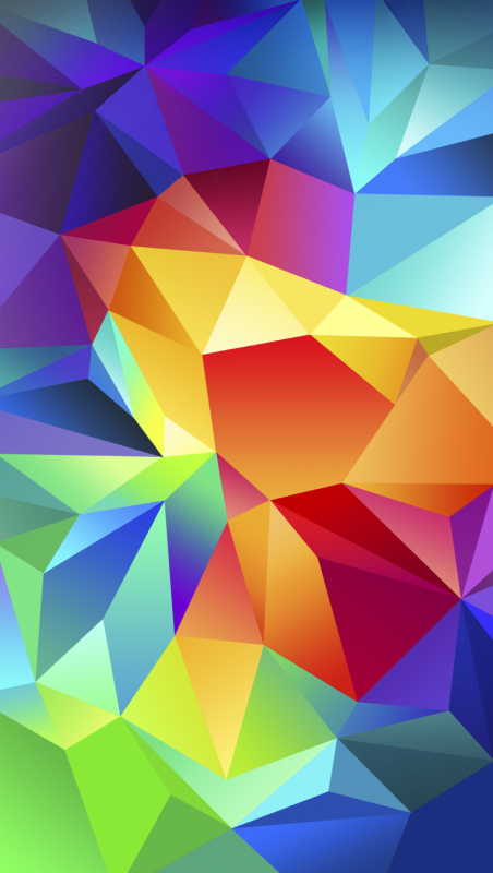 The Samsung Galaxy S5 multicolored wallpaper