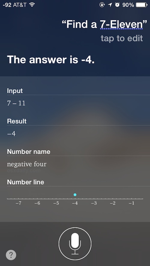 Siri finding a 7-11