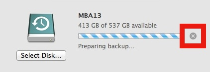 Stop a Time Machine Backup