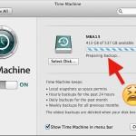 Time Machine stuck on Preparing Backup