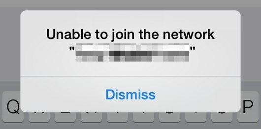 Unable to join the network in iOS