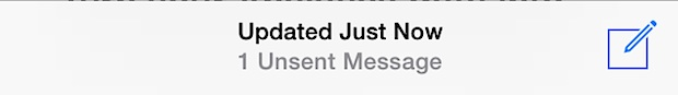 """Unsent Messages"" in Mail app for iOS"