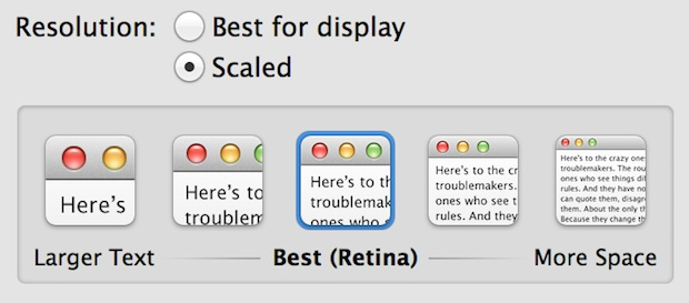 Adjust available screen space on a retina Mac