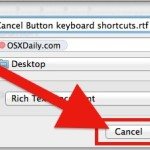 Cancel Button keyboard shortcut in Mac OS X