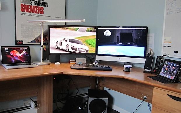 Infosec iMac desk setup