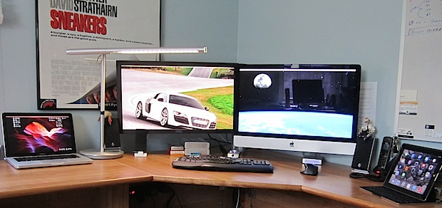 Mac desk setup of an Information Security professional