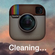 "iOS App name says ""Cleaning"""