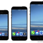 iPhone 6 mockups with larger display