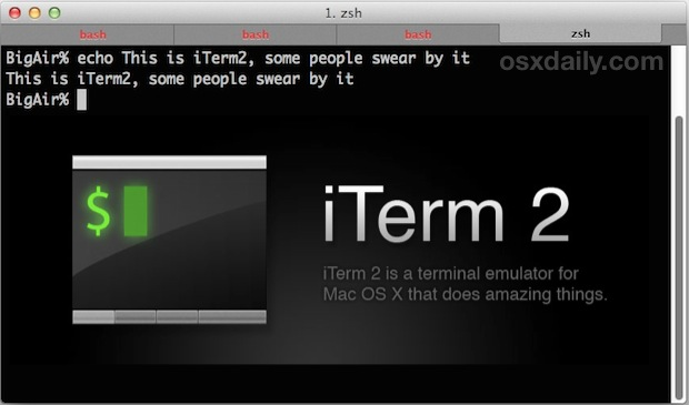 iTerm2 for performance
