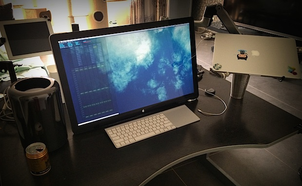 Mac Pro software developer and author desk setup
