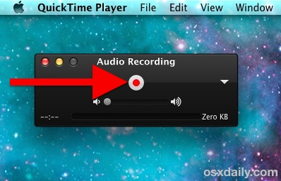 Record Sound on a Mac with QuickTime Recorder