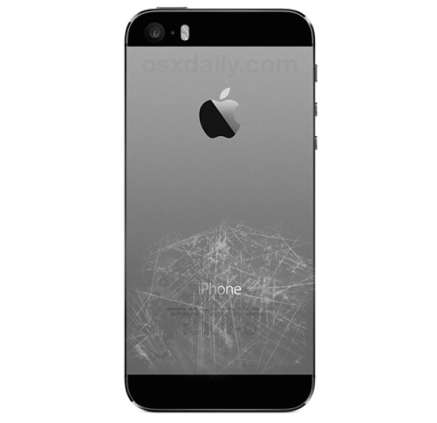 Scratched back of an iPhone