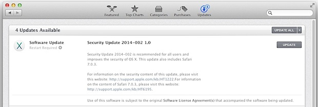 Security Update 2014-02 for OS X