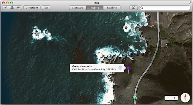 Share Maps locations from Mac OS X